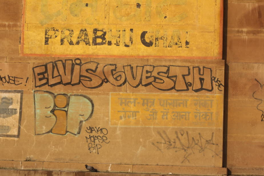 Varanasi: Grafiti am Ganges